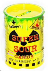 Леденец Super Sour Candy 50г + Тату