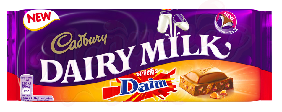 Cadbury Daim Chocolate 120 гр