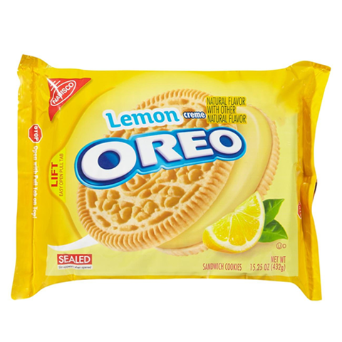 Печенье Oreo-sandwich Cookies,Lemon creme 432 гр